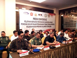 Press Conference Pelatihan Bersama